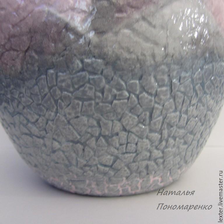 Вазы ручной работы. Стеклянная ваза  Ангелы