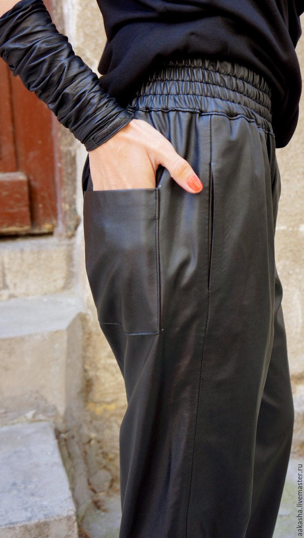 Черные брюки кожаные доставка