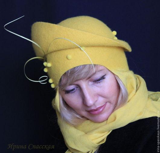 """Шляпы ручной работы. Ярмарка Мастеров - ручная работа. Купить Шляпка """"Март"""" из коллекции """"Бедуины"""". Handmade. Желтый, войлок"""