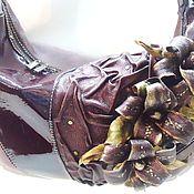 Сумки и аксессуары handmade. Livemaster - original item Women`s leather bag with flowers JULIETTE purple. Handmade.