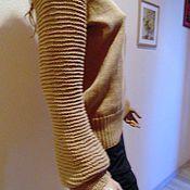 Одежда ручной работы. Ярмарка Мастеров - ручная работа Свитер пуловер вязаный по мотивам коллекции MiH Jeans. Handmade.