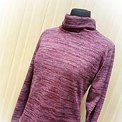Одежда handmade. Livemaster - original item New - Polo-Bordeaux melange. Handmade.