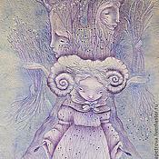 Картины и панно ручной работы. Ярмарка Мастеров - ручная работа Черничные ручки. Картина фэнтези. Пастель.. Handmade.