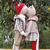 Куклы и игрушки ручной работы. Ярмарка Мастеров - ручная работа Кошки тоже носят клетку. Handmade.
