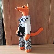 """Мягкие игрушки ручной работы. Ярмарка Мастеров - ручная работа Кукла тильда """" Хитрый Лис"""". Handmade."""