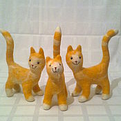 Куклы и игрушки ручной работы. Ярмарка Мастеров - ручная работа Разноцветные котята  из шерсти. Handmade.