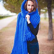 Аксессуары handmade. Livemaster - original item The oversized scarf with tassels BELL. Handmade.