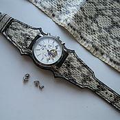 Ремешок для часов ручной работы. Ярмарка Мастеров - ручная работа Ремешок для часов из кожи змеи. Handmade.