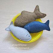 Мягкие игрушки ручной работы. Ярмарка Мастеров - ручная работа Рыбка из фетра в ассортименте. Handmade.