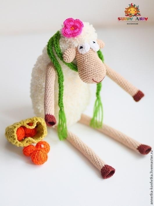 Игрушки животные, ручной работы. Ярмарка Мастеров - ручная работа. Купить Вязаная овечка Фруша. Handmade. Бежевый, вязаная овечка