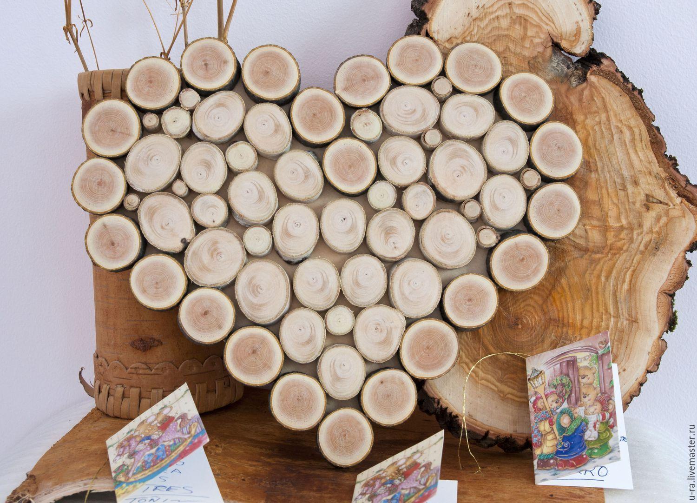 Поделки из торцевых спилов дерева