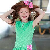Работы для детей, ручной работы. Ярмарка Мастеров - ручная работа СКИДКА Мятное платье с воланом. Handmade.
