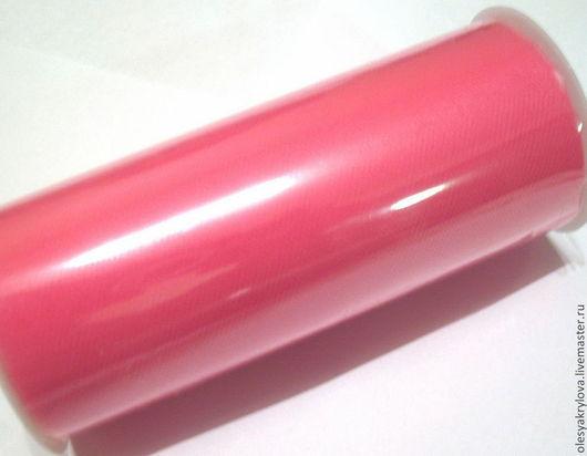 Шитье ручной работы. Ярмарка Мастеров - ручная работа. Купить Ярко-розовый (shocking pink) нейлоновый фатин в роллах. Handmade.