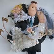 Свадебный салон ручной работы. Ярмарка Мастеров - ручная работа Семейный портрет. Handmade.