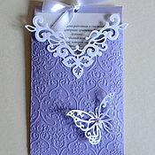 Свадебный салон ручной работы. Ярмарка Мастеров - ручная работа Приглашение-конверт на свадьбу. Handmade.
