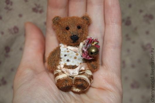 Мишки Тедди ручной работы. Ярмарка Мастеров - ручная работа. Купить Маленький мишка 5,5 см.. Handmade. Коричневый