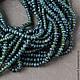 Для украшений ручной работы. Ярмарка Мастеров - ручная работа. Купить Нефрит афганский, темно-зеленые рондели, нить длиной 33,5 см. Handmade.