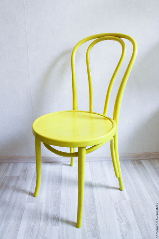 Мебель ручной работы. Ярмарка Мастеров - ручная работа. Купить Венский стул лимонный тонет. Handmade. Лимонный, стулья