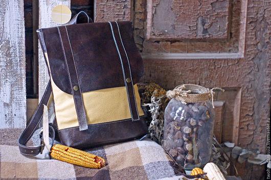 Рюкзаки ручной работы. Ярмарка Мастеров - ручная работа. Купить Женский кожаный рюкзак (городской рюкзак, повседневный рюкзак). Handmade.