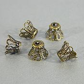 Accessories4 handmade. Livemaster - original item Bead caps Openwork, 8 x 9mm, antique bronze. Price for 10 PCs. Handmade.