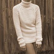 Одежда ручной работы. Ярмарка Мастеров - ручная работа Нежный свитер из альпаки. Handmade.