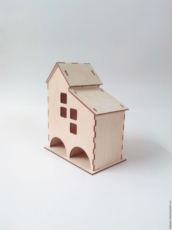 IVL-110-3-320 Чайный домик двойной заготовка для декупажа и росписи