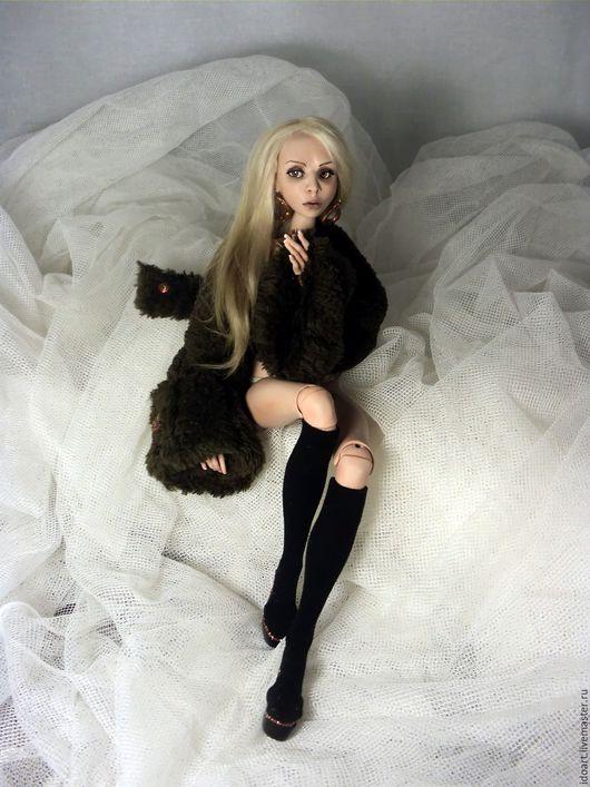 Коллекционные куклы ручной работы. Ярмарка Мастеров - ручная работа. Купить Блондинка Эмма - очень гибкая шарнирная кукла из полиуретана, бжд. Handmade.