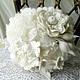 """Свадебные цветы ручной работы. Ярмарка Мастеров - ручная работа. Купить Валяный букет невесты """"Цветы наших снов"""". Handmade."""