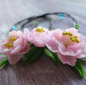 Украшения ручной работы. Ярмарка Мастеров - ручная работа ...Аромат весеннего поцелуя...колье с персиковым цветом. Handmade.