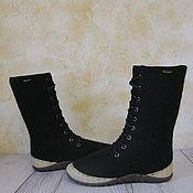 Обувь ручной работы. Ярмарка Мастеров - ручная работа Цена со скидкой. Готовая пара. Войлочные ботинки Focus. Handmade.