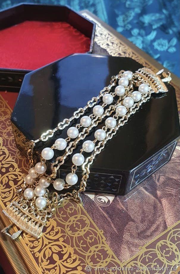 Bracelet 'Pearl tenderness' Coro (Coro), Vintage bracelets, Moscow,  Фото №1