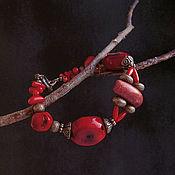 """Украшения ручной работы. Ярмарка Мастеров - ручная работа Браслет """"Kalakmul"""" - натуральные кораллы. Handmade."""
