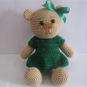 """Мягкие игрушки ручной работы. Ярмарка Мастеров - ручная работа Игрушка """"Медвежонок в платье"""". Handmade."""