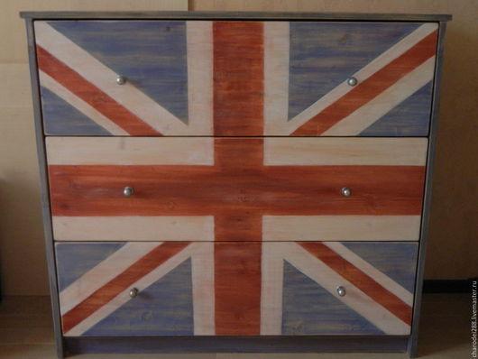 Мебель ручной работы. Ярмарка Мастеров - ручная работа. Купить Комод UNION JACK. Handmade. Комбинированный, Британский флаг