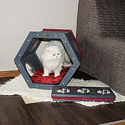Для домашних животных, handmade. Livemaster - original item House-pedestal Red Line. Handmade.