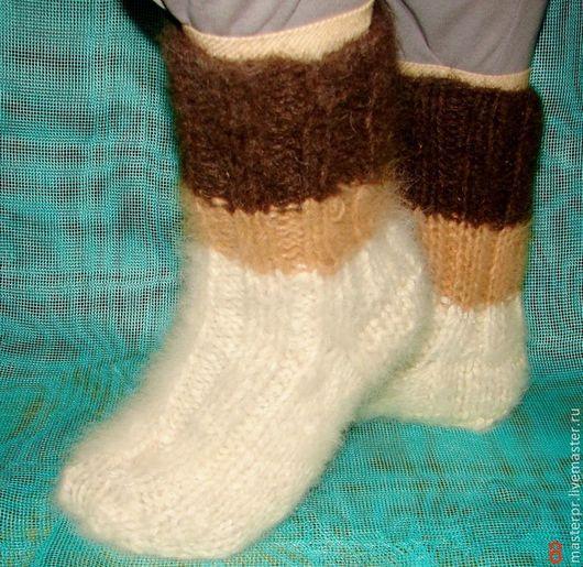 Носки «Мечта Полярника»  зимние пуховые толстые  артикул №32м из собачьего пуха . Ручное прядение .Ручное вязание. Очень толстые носки .Полный эксклюзив.
