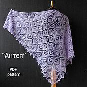 Материалы для творчества handmade. Livemaster - original item PDF instructions for knitting shawls Anthea.. Handmade.