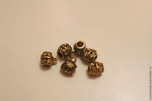 Для украшений ручной работы. Ярмарка Мастеров - ручная работа. Купить Бейл античное золото. Handmade. Золотой, бейл для подвесок
