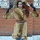 Верхняя одежда ручной работы. Ярмарка Мастеров - ручная работа. Купить Шикарное пальто зимнее с лисой. Handmade. Бежевый