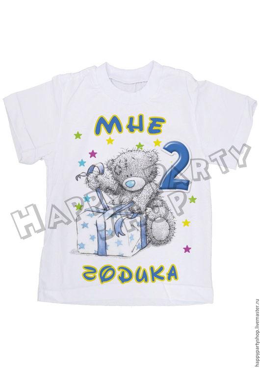 """Одежда для мальчиков, ручной работы. Ярмарка Мастеров - ручная работа. Купить Детская футболочка на 2 года """"Мишка Тедди"""". Handmade."""