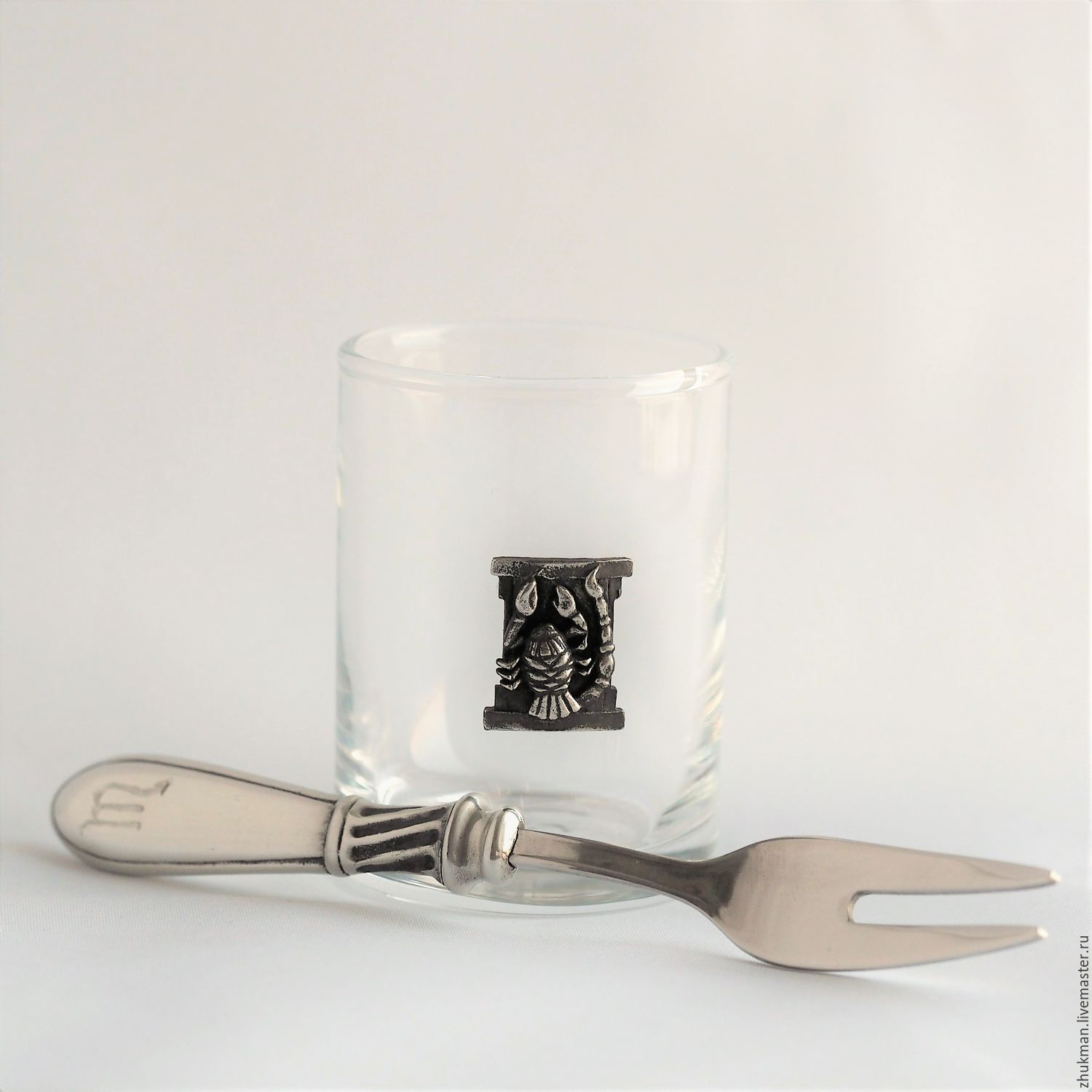 Set 'Zodiac Signs. Scorpio' stack, and diner fork in box, Gift Boxes, Zhukovsky,  Фото №1