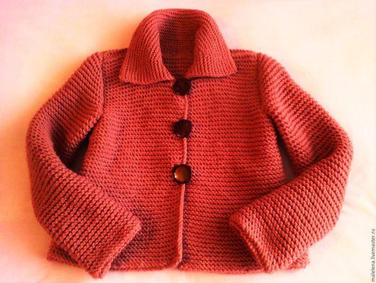Пиджаки, жакеты ручной работы. Ярмарка Мастеров - ручная работа. Купить Жакет на осень. Handmade. Коралловый, жакет на осень, шерсть