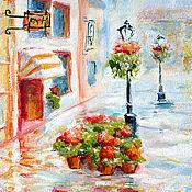"""Картины и панно ручной работы. Ярмарка Мастеров - ручная работа Картина """"Солнечный дождь"""" бесплатная доставка, голубой желтый красный. Handmade."""