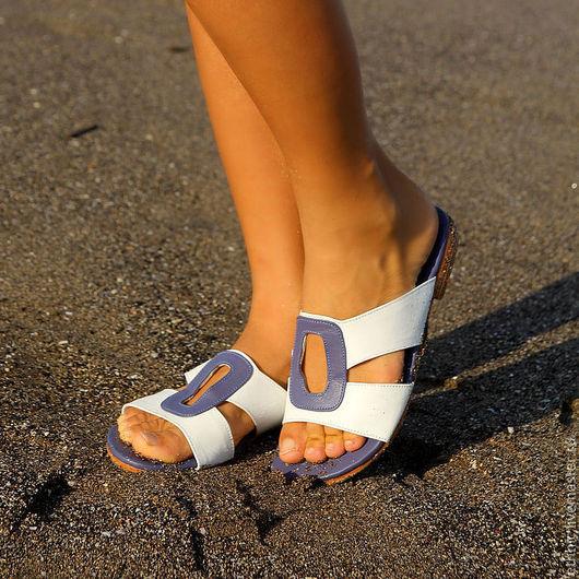 Обувь ручной работы. Ярмарка Мастеров - ручная работа. Купить Сандалии из натуральной кожи Ellingsen. Handmade. Белый, летняя обувь