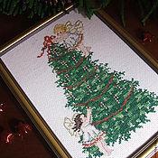 """Подарки к праздникам ручной работы. Ярмарка Мастеров - ручная работа Вышитая картина """"Рождество"""". Handmade."""