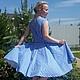 Платья ручной работы. Ярмарка Мастеров - ручная работа. Купить Платье клетка. Handmade. Синий, платье в клетку