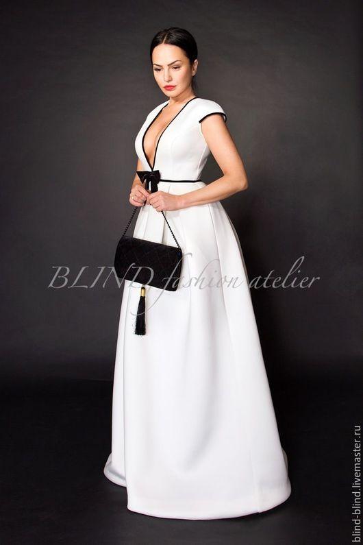 Платья ручной работы. Ярмарка Мастеров - ручная работа. Купить Вечернее платье 00195. Handmade. Белый, в пол