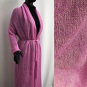 Одежда handmade. Livemaster - original item Cardigan long knitted kid-mohair/cashmere/silk/lurex. Handmade.