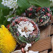 """Колье ручной работы. Ярмарка Мастеров - ручная работа """"Майская зелень"""" бусы текстильные. Handmade."""
