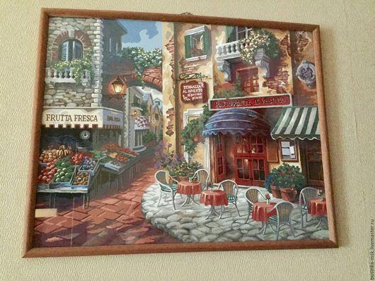 Город ручной работы. Ярмарка Мастеров - ручная работа. Купить Вкус Италии. Картина по номерам. Handmade. Комбинированный, картина по номерам